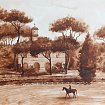 """Views of Rome "" . Villa Borghese ."