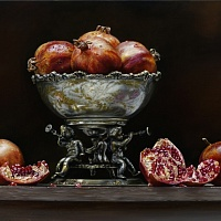 Pomegranate in a vase