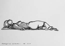 Lying on a plain surface  (from Trace of action series)