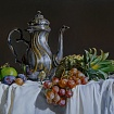 teapot with fruits