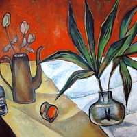 still life with flower