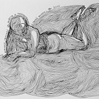Inflections of a girl lying on a belly (from Trace of action series)