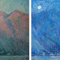 The road to the stars. Diptych