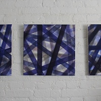 Sings of space. Wind. Triptych
