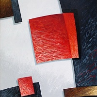 Composition with a red square