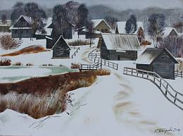 Winter in the village