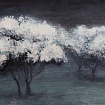 Mist (trees in bloom)