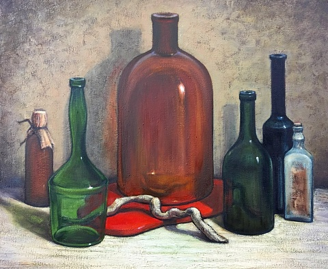 Still life with bottles 2