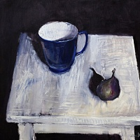 Figs and blue cup