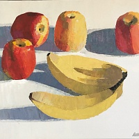 Bananas and apples